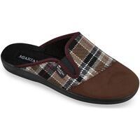 Topánky Muži Papuče Mjartan Pánske hnedé papuče  PALO hnedá