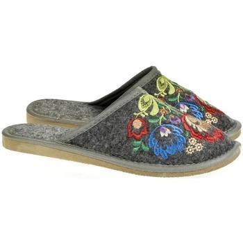Topánky Ženy Papuče Just Mazzoni Dámske luxusné sivé papuče LAJA tmavosivá