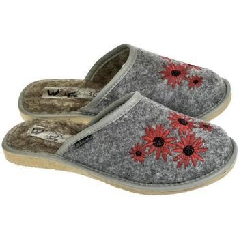 Topánky Ženy Papuče Just Mazzoni Dámske sivé papuče MILANA tmavosivá