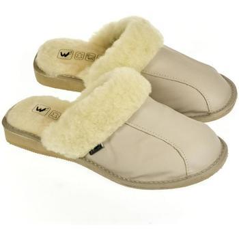 Topánky Ženy Papuče Just Mazzoni Dámske luxusné kožené papuče GITA sivá