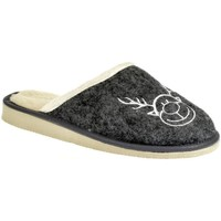 Topánky Ženy Papuče John-C Dámske tmavo-sivé papuče JELENIK tmavosivá