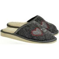 Topánky Ženy Papuče Bins Dámske sivé papuče SKVELÁ DCÉRA tmavosivá