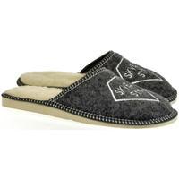 Topánky Muži Papuče Bins Pánske sivé papuče SKVELÝ SYN 36-39 tmavosivá
