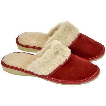 Topánky Ženy Papuče John-C Dámske luxusné kožené papuče MIŠA červená