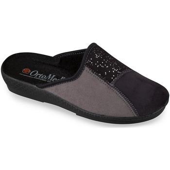 Topánky Ženy Papuče Mjartan Dámske sivé papuče  BLACKIE tmavosivá