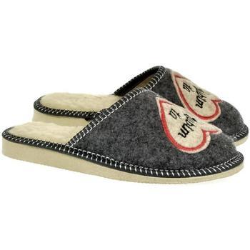 Topánky Ženy Papuče Bins Dámske sivé papuče ĽÚBIMŤA tmavosivá