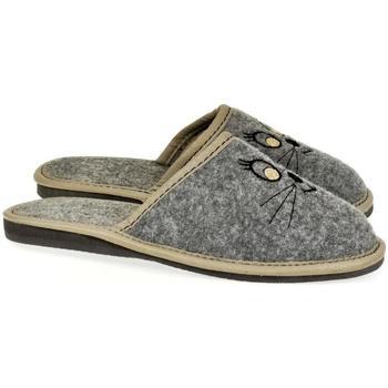 Topánky Ženy Papuče John-C Dámske sivé papuče KITTY sivá