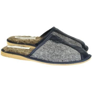 Topánky Muži Papuče Just Mazzoni Pánske sivo-modré papuče SIMON sivá