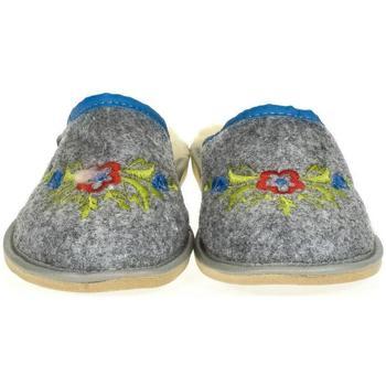 Topánky Ženy Papuče Just Mazzoni Dámske sivé papuče LAURA sivá