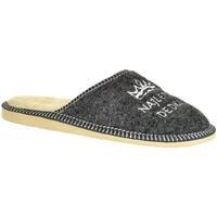 Topánky Muži Papuče John-C Pánske sivé papuče NAJ DEDKO tmavosivá