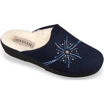 Topánky Ženy Papuče Mjartan Dámske tmavomodré papuče  HELEN tmavomodrá