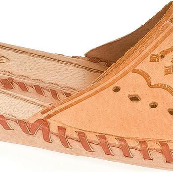 Topánky Ženy Papuče Just Mazzoni Dámske béžové kožené papuče HANDMADE GORAL béžová