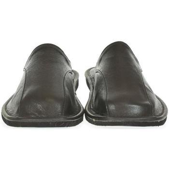 Topánky Muži Papuče Just Mazzoni Luxusné pánske čierne kožené papuče ALBERT čierna