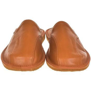 Topánky Muži Papuče Just Mazzoni Luxusné pánske hnedé kožené papuče ALBERT ťavia