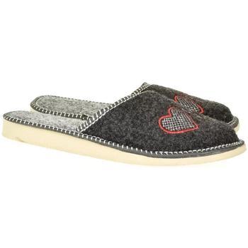 Topánky Ženy Papuče John-C Dámske sivé papuče SUPER MAMA tmavosivá