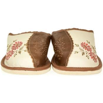 Topánky Ženy Papuče John-C Dámske béžové kožené papuče RAYA béžová