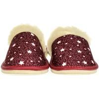 Topánky Ženy Papuče John-C Dámske bordové papuče HVIEZDY bordová