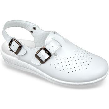 Topánky Ženy Nazuvky Mjartan Dámske biele šľapky  LILIANA biela