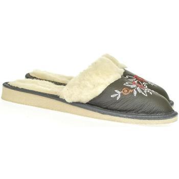 Topánky Ženy Papuče John-C Dámske sivé papuče SILVANA tmavosivá