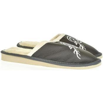 Topánky Ženy Papuče John-C Dámske sivé papuče JELENÍK tmavosivá