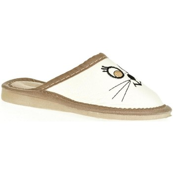 Topánky Deti Papuče John-C Detské biele papuče CUTE CAT biela