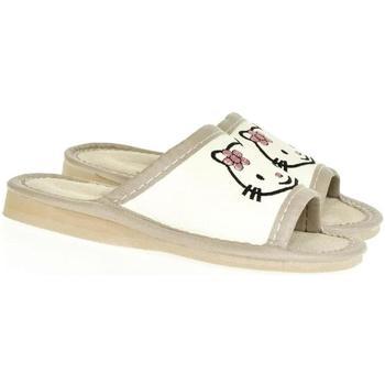 Topánky Deti Papuče John-C Detské biele papuče AHOJ KITTY biela