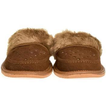 Topánky Ženy Papuče John-C Dámske kožené hnedé papuče ĽUBICA hnedá