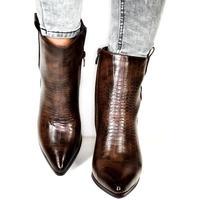 Topánky Ženy Čižmičky Seastar Dámske hnedé členkové čižmy DEMORA hnedá