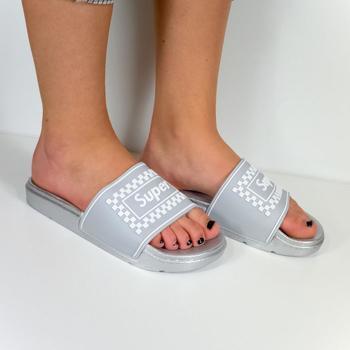 Topánky Ženy športové šľapky Seastar Dámske sivé šľapky SUPER sivá