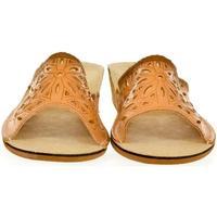 Topánky Ženy Papuče Just Mazzoni Dámske kožené hnedé papuče INGA ťavia