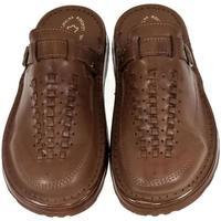 Topánky Muži Papuče John-C Pánske hnedé šľapky TISIO hnedá