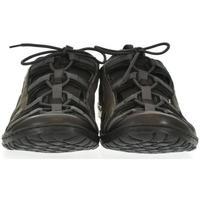 Topánky Muži Sandále Krezus Pánske sivé kožené topánky VINCENT tmavosivá