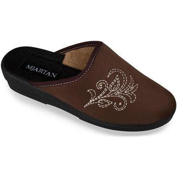 Topánky Ženy Papuče Mjartan Dámske papuče  CHERISA 4 hnedá