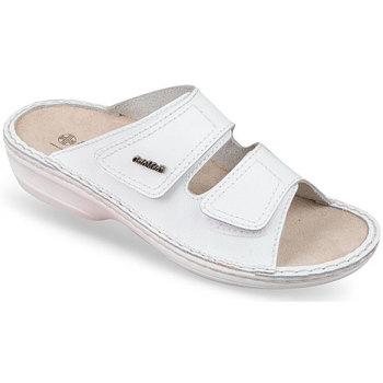 Topánky Ženy Šľapky Mjartan Dámske biele kožené šľapky  SIMA biela