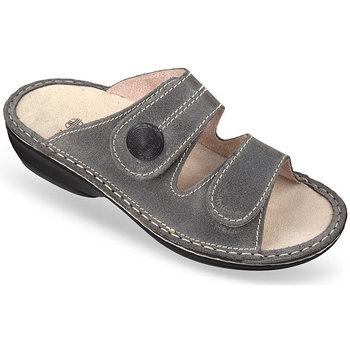 Topánky Ženy Šľapky Mjartan Dámske kožené šľapky  DOMI sivá