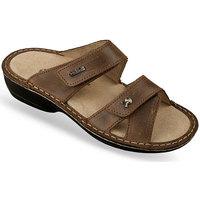 Topánky Ženy Šľapky Mjartan Dámske šľapky  KATA 3 hnedá