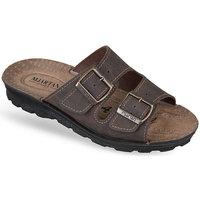 Topánky Muži Šľapky Mjartan Pánske šľapky  TIMO hnedá