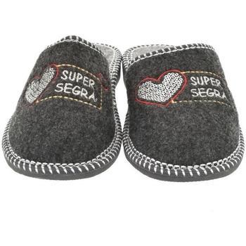 Topánky Ženy Papuče Bins Dámske sivé papuče SEGRA tmavosivá