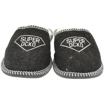 Topánky Muži Papuče Bins Pánske čierne papuče OCKO čierna