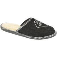 Topánky Muži Papuče Bins Pánske čierne papuče SUPER BRÁCHA čierna
