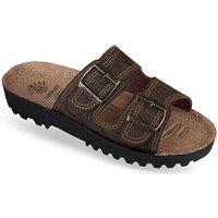 Topánky Muži Šľapky Mjartan Pánske papuče  IGGY hnedá