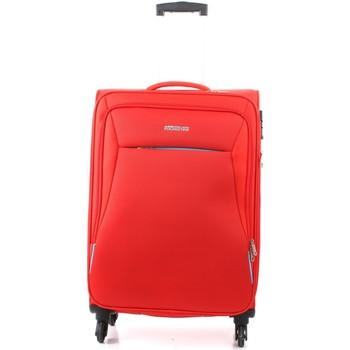 Tašky Pružné cestovné kufre American Tourister 39G000908 RED