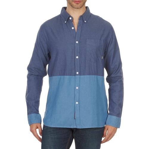 Oblečenie Muži Košele s dlhým rukávom Element BRENTWOOD Modrá