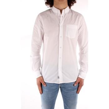 Oblečenie Muži Košele s dlhým rukávom Blauer 21SBLUS01223 WHITE