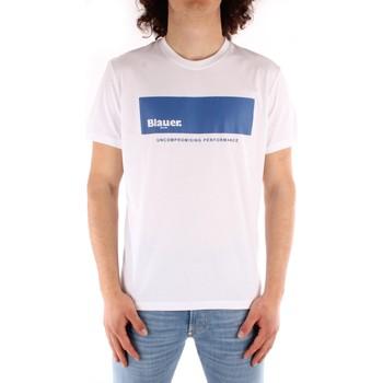 Oblečenie Muži Tričká s krátkym rukávom Blauer 21SBLUH02132 WHITE
