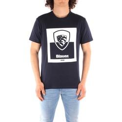 Oblečenie Muži Tričká s krátkym rukávom Blauer 21SBLUH02131 BLUE