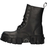 Topánky Polokozačky New Rock WALL026NBASA BLACK