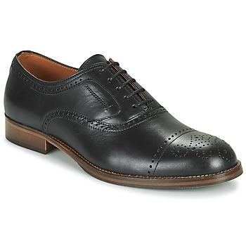 Topánky Muži Derbie Pellet ABEL Čierna