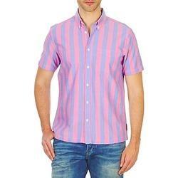 Oblečenie Muži Košele s krátkym rukávom Ben Sherman BEMA00487S Ružová / Modrá