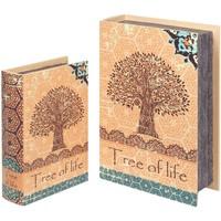 Domov Košíky, škatule Signes Grimalt Krabice Na Knihy 2U Tree Life Naranja
